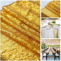 Glitter Sequin Table Runner Shiny Sparkly Cloth Wedding Home Party Noble Decor