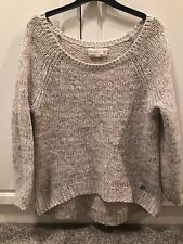 WOMENS ABERCROMBIE & FITCH GREY KNITTED JUMPER CASUAL SIZE XS/S CUTE COSY