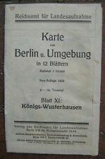 Landkarte Berlin Blatt 11 Königswusterhausen Königs-Wusterhausen Landesaufnahme