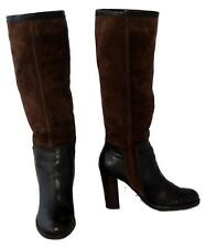 "Nine West ""Emilio"" Brown Genuine Suede/Leather Knee Length Women's Boots Size 9M"