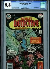 Detective Comics # 465 CGC 9.4 NM  Batman 1976 White Pages Comic Amricons K17
