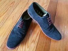 Base London Perform Mens Suede Oxford Derby Shoes sz US 10-10.5 EU 44
