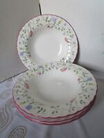 Johnson Brothers SUMMER CHINTZ   Soup Bowls - Set/4 - England - EUC -FREE SHIP