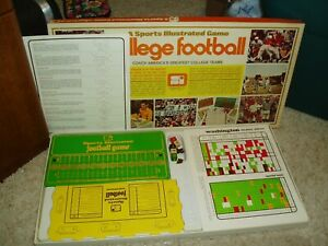 VINTAGE 1972 SPORTS ILLUSTRATED COLLEGE FOOTBALL BOARD GAME