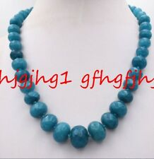 Gem Abacus Beads Necklace 18� New 10-18mm Brazilian Aquamarine Faceted