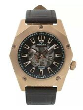 Rotary Men's Automatic Fusion Brown Strap Skeleton Watch GS03602/A/04. New. 847
