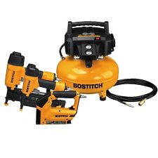 BOSTITCH Pancake Air Compressor BTFP3KIT  Compressor Combo Kit Bostich warranty