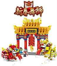 Sembo Blocks Kids Building Toys Puzzle Chinese Streetscape Lion Dance 201020