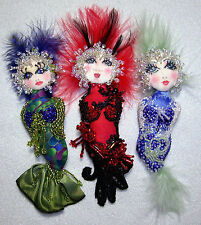 "6"" Cloth Art Doll Pin (E-PATTERN) ""Bubble Doo Mermaid"" By C Erbsland"