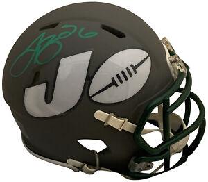 Le'Veon Bell Autographed New York Jets Signed NFL AMP Football Mini Helmet JSA