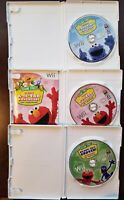 3 Sesame Street Nintendo Wii Games Ready Set Grover, A-to-Zoo, Counting Carnival