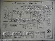 METZ Typ 289 G W Schaltplan