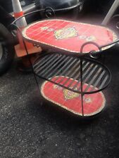 Rolling Bar Cart in Ceramic Tile and Iron Very Nice Vintage Antique