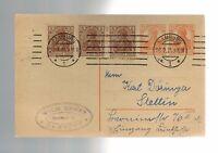 1926 Hamburg Germany Multi Franking Postcard Cover