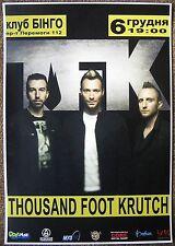 THOUSAND FOOT KRUTCH 2012 Gig POSTER Kiev Ukraine Concert