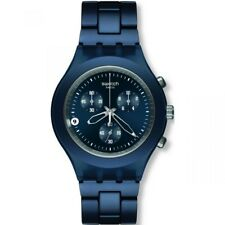 Swatch SVCN4004AG Men's Blue Steel Bracelet With Blue Analog Dial Watch NWT