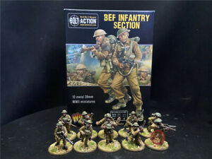 1/56 28mm DPS painted Bolt Action WW2 Bef Infantry Section GH3083