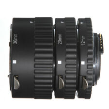 US Auto Focus Macro Extension 3 Tube Set For Nikon AF AF-S DX FX DG Lens NEW