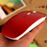 Desktop 2.4G Receiver Laptop Computer Ultra Thin Optical Wireless Mouse USB