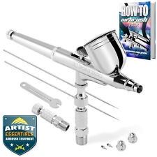 PointZero Dual-Action 7cc Gravity-Feed Airbrush 3 Tip Set .2mm .3mm .5mm