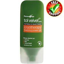 Tol Velvet Cryotherapy Pain Relief  Freezing Power Gel 100ml - 3.38 fl oz