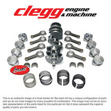 CHEVY 396 TO 434 SCAT STROKER KIT BALANCED W/ FORGED DOME PISTONS & H-BEAM RODS