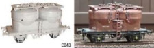 Dapol C043 Prestwin Twin Silo Cement Plastic Kit OO Gauge