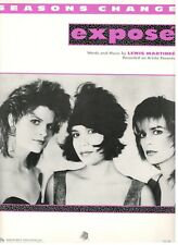 "EXPOSE ""SEASONS CHANGE"" SHEET MUSIC-PIANO/VOCAL/GUITAR/CHORDS-1987-VERY RARE-NEW"