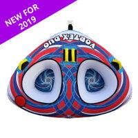 Boatworld Vortex Duo 2 Rider Inflatable Towable Ringo Donut Tube for Boat Jetski
