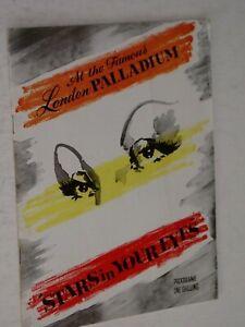 THEATRE PROGRAMME .. London Palladium..1960....CLIFF RICHARD..,RUSS CONWAY etc