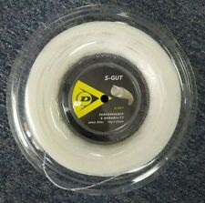 Dunlop S-Gut 17 Gauge 1.25mm 660' 200m Tennis String Reel White