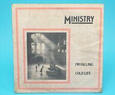 "MINISTRY I'M FALLING COLD LIFE 1981 VINYL 12"" WAX TRAX! 110072X USA"
