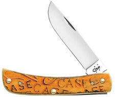 Case Xx Knife 22083 Carved Persimmon Orange Sod Buster Jr Knives SS Blade NEW