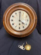 Pfeilkreuz Wanduhr Antik Jugendstil Bürouhr Kontoruhr Vintage Uhr Pendeluhr