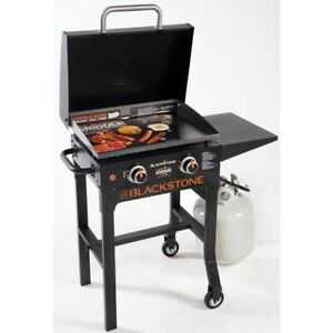 "Blackstone Adventure Ready 2-Burner 22"" Griddle with hood and cart (wheels)"