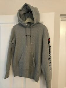 Champion Boys Grey Hooded Sweatshirt Size XS