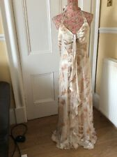 Monsoon Kiki Silk Halterneck  Floral Brides Dress Bnwt 8 Hols 9 May