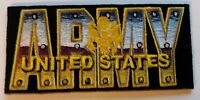 """US ARMY  """"UNITED STATES ARMY""""   PATCH  Iron / Sew-on Patch  4"""" X 2"""" approx"""