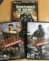Lot / 3 Jagged Alliance Back in Action & Crossfire & Brothers In Arms PC DVD Rom