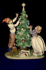 Lladro Trimming The Tree Brand Nib #5897 Christmas Holiday Boy Girl $240 Off F/S