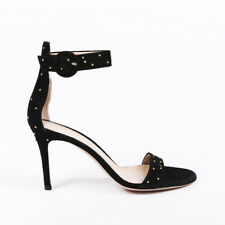 Gianvito Rossi Studded Suede Ankle Strap Sandals SZ 36.5
