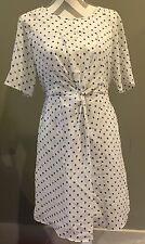j crew polka dot dress Blue And White Size 6s