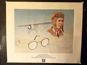 Ancienne affiche Publicitaire Lindbergh Lunettes Essilor Vintage Réf 269