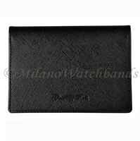 Glam Rock Black High Quality Saffiano Leather Horizontal Double ID Wallet