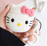 Hello Kitty Air Pod protective case 3D SOFT Silicone cute ovely gift for Air pod