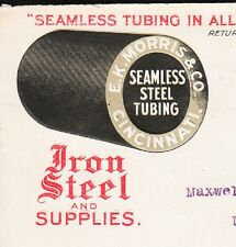 EK Morris Iron Steel Tubing 3-Color AD Cincinnati Ohio 1914 Cover 2q