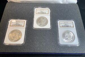 1883 O, 1884 O & 1885 O NGC MS63 Morgan Silver Dollar Great Montana Collection