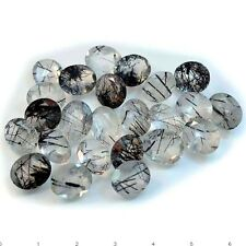 1Pc Natural Black Rutile Quartz Oval (faceted-approx. 12mm X 10mm)