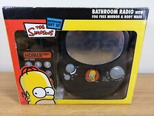 THE SIMPSONS BATHROOM GIFT SET - INC RADIO WITH FOG FREE MIRROR AND BODY WASH s2