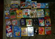 40 Huge Card Game Lot Monopoly Sorry Skip Bo Uno Vintage Playing Sealed Games